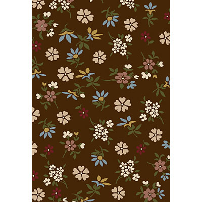 Central Oriental Generations - Tossed Blossoms 3 x 5 Tossed Blossoms Brown 8508BR-46